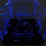 Balde de LED Azul Iluminado