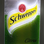 Display Schweppes Lata suada