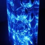 Luminária Bolas Azuis Gel