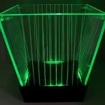Balde de LED Listrado (verde)