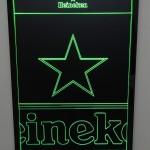 Painel Quadro Heineken Fundo Preto