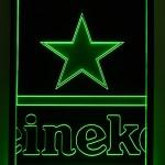 Painel Quadro Heineken Fundo Preto Estrela Verde
