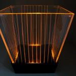 Balde de LED Listrado (âmbar)
