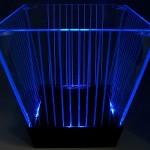 Balde de LED Listrado (azul)