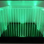 Balde de LED Quadrado Iluminado Verde Listrado