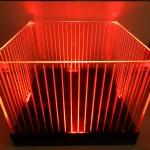 Balde de LED Listrado Vermelho Quadrado Iluminado